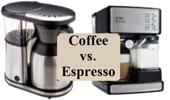 coffee versus espresso