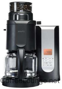 KRUPS KM7005 Grind and Brew Coffee Maker with Stainless Steel Conical Burr Grinder