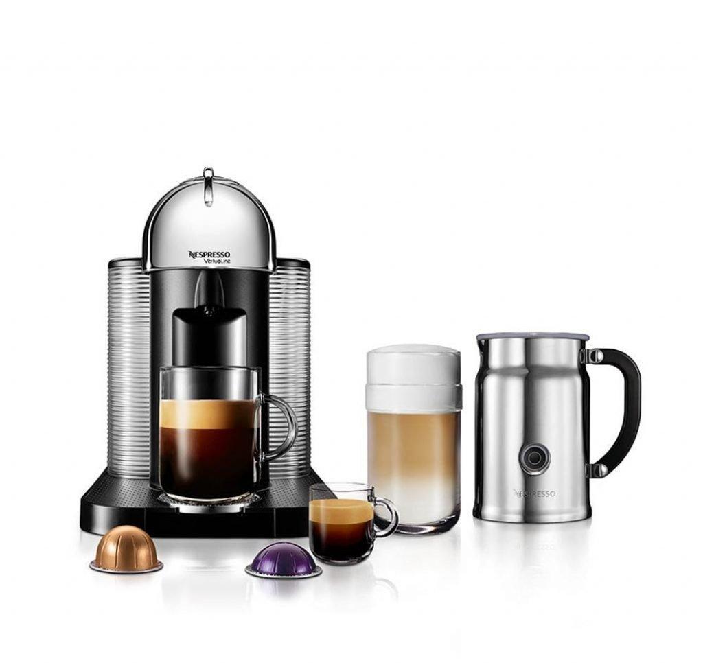 nespresso agca1uschne vertuoline coffee and espresso maker with - Nespresso Aeroccino