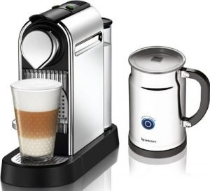 Nespresso Citiz-C111 Espresso Maker with Milk Frother-Aeroccino in Chrome