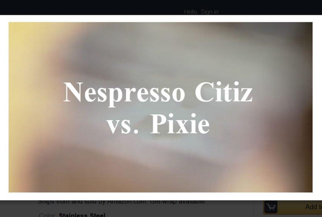 nespresso citiz vs pixie