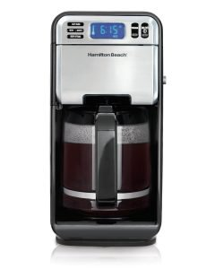 Hamilton Beach 12-Cup Digital Coffee Maker, Stainless Steel (46201)