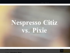 Nespresso Citiz vs Pixie
